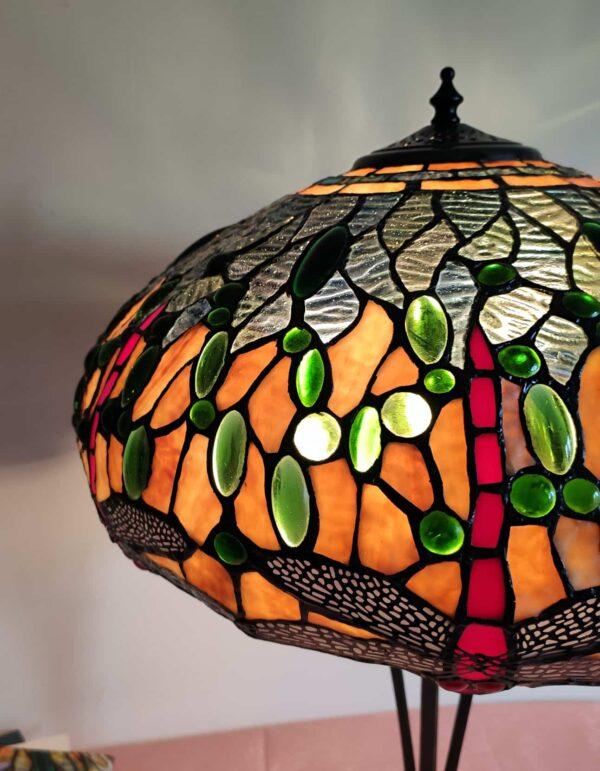 lampada tiffany da tavolo con libellule 6