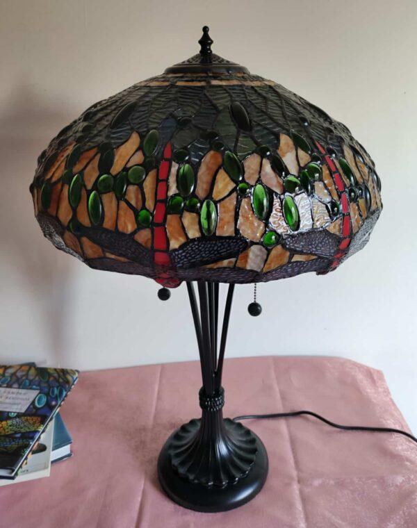 lampada tiffany da tavolo con libellule 5
