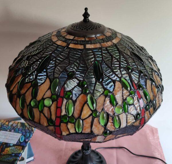 lampada tiffany da tavolo con libellule 7