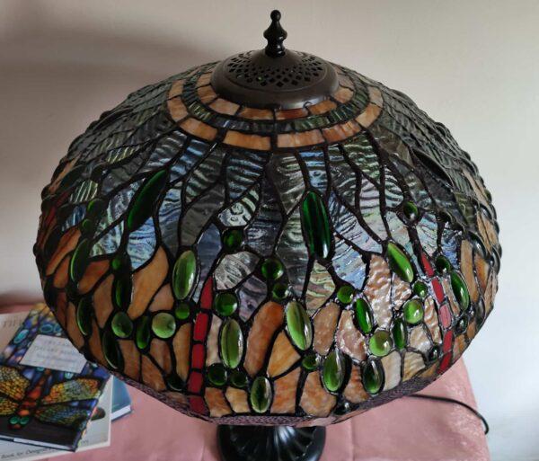 lampada tiffany da tavolo con libellule 8