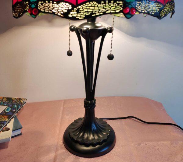 lampada stile tiffany con libellule 3