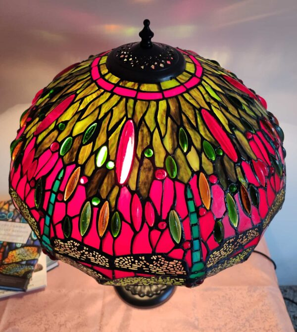 lampada stile tiffany con libellule 5