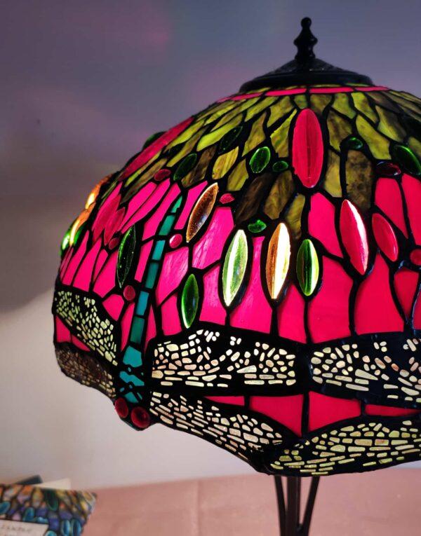 lampada stile tiffany con libellule 4