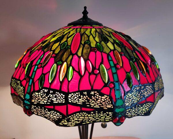 lampada stile tiffany con libellule 2