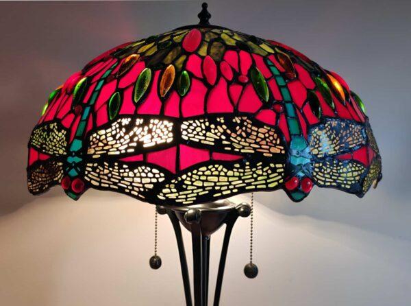 lampada stile tiffany con libellule 6