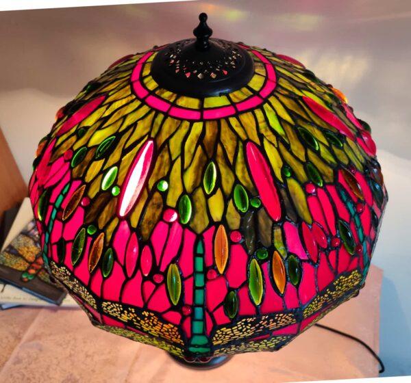 lampada stile tiffany con libellule 7