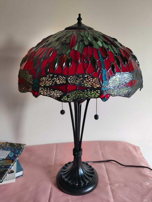 lampada stile tiffany con libellule 9