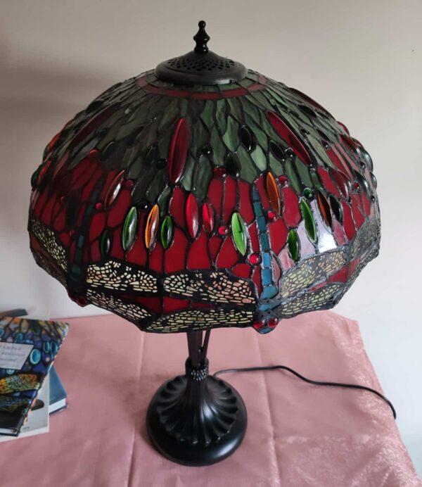 lampada stile tiffany con libellule 8