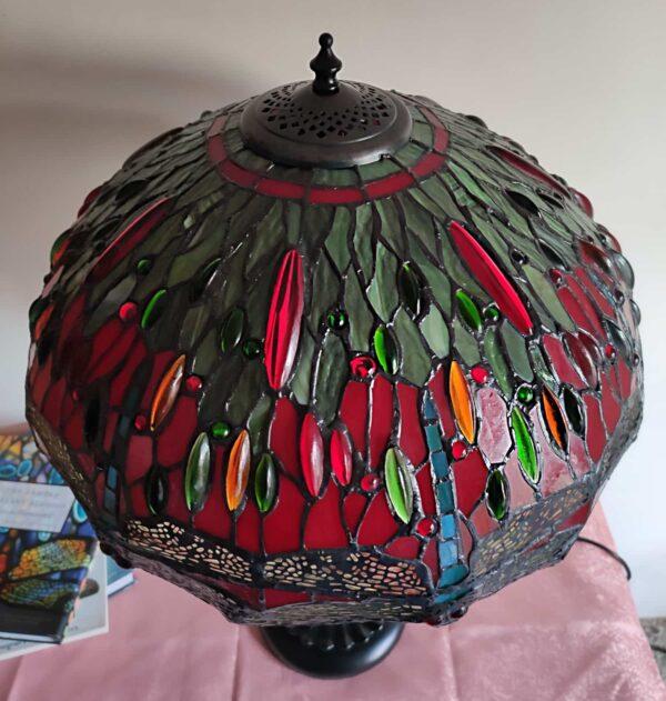 lampada stile tiffany con libellule 11