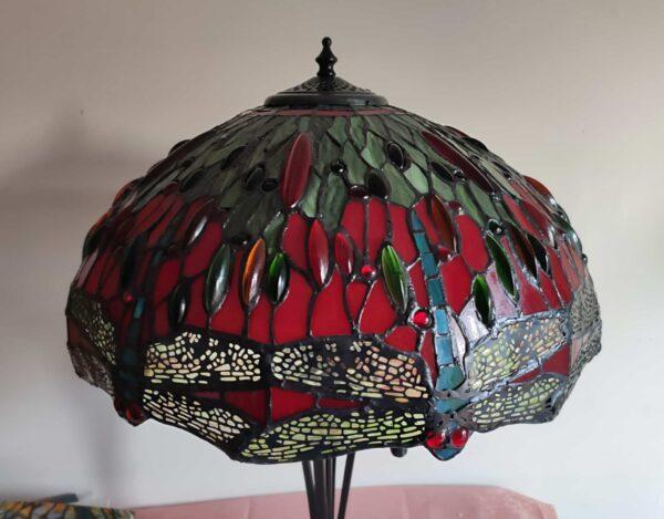 lampada stile tiffany con libellule 10'