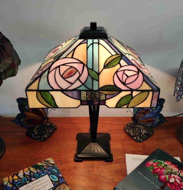 Lampada da Tavolo Tiffany con Fiori 242