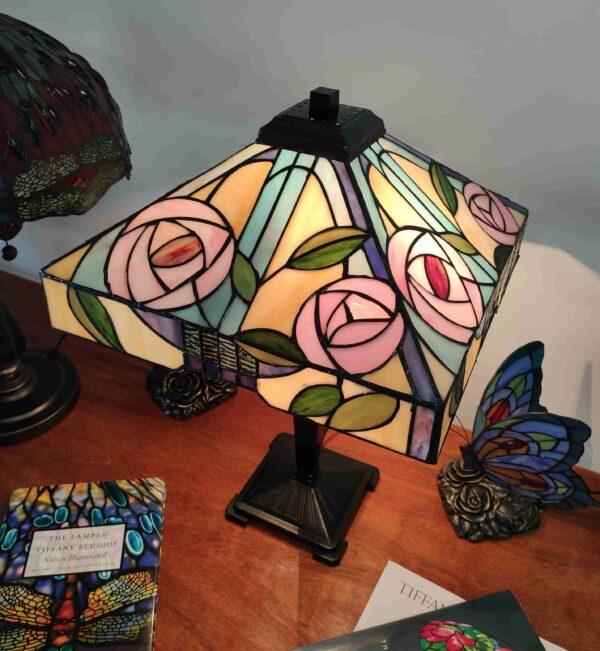 Lampada da Tavolo Tiffany con Fiori 307