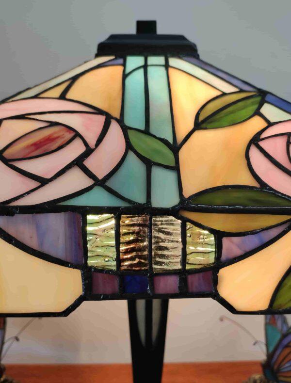Lampada da Tavolo Tiffany con Fiori 321