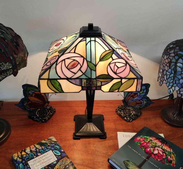 Lampada da Tavolo Tiffany con Fiori 406