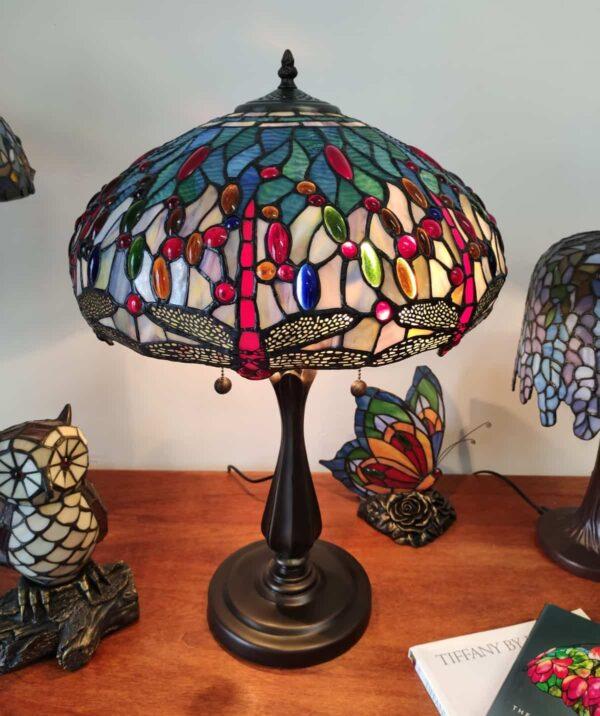 lampada tiffany con libellule 12
