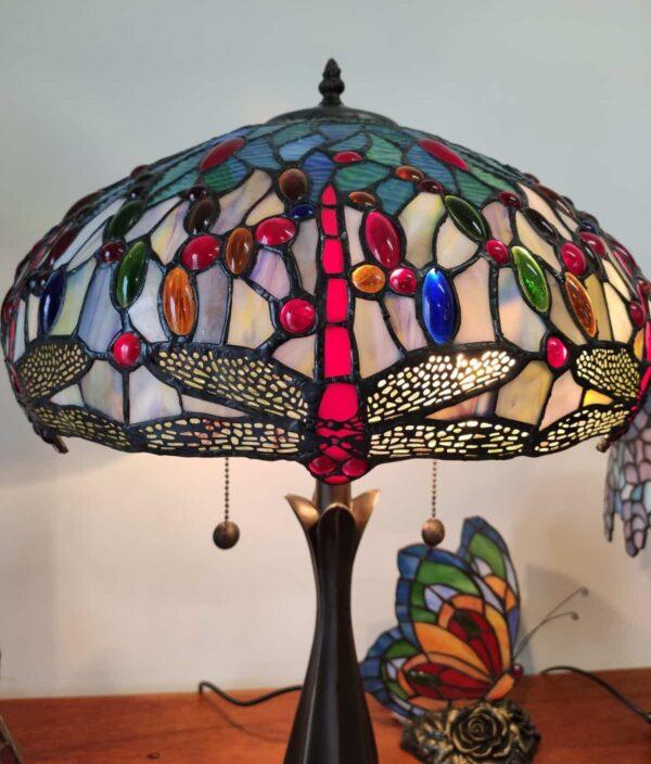 lampada tiffany con libellule 11