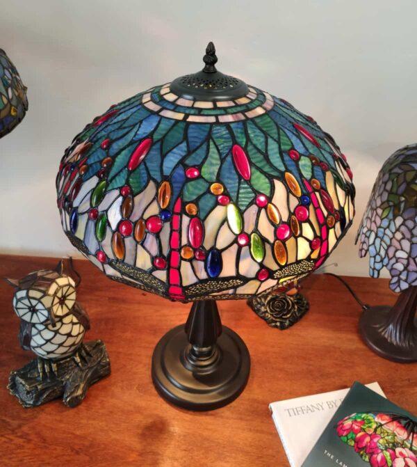 lampada tiffany con libellule 10