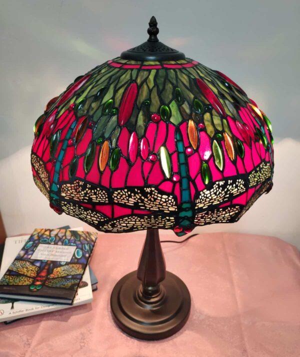 lampada da tavolo tiffany rossa 1