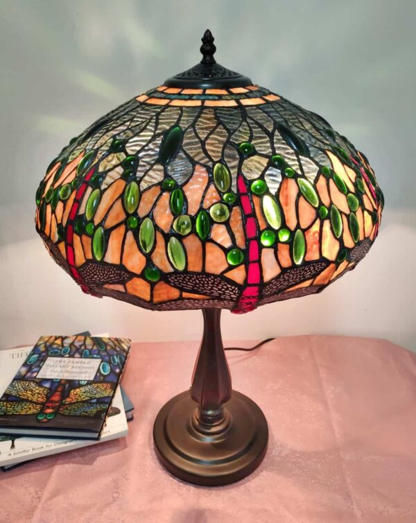 lampada da tavolo tiffany vintage 4