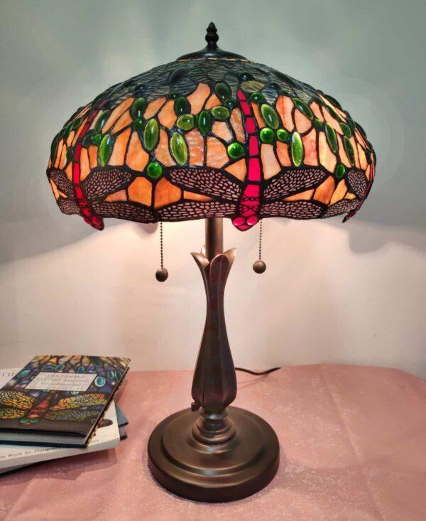 lampada da tavolo tiffany vintage