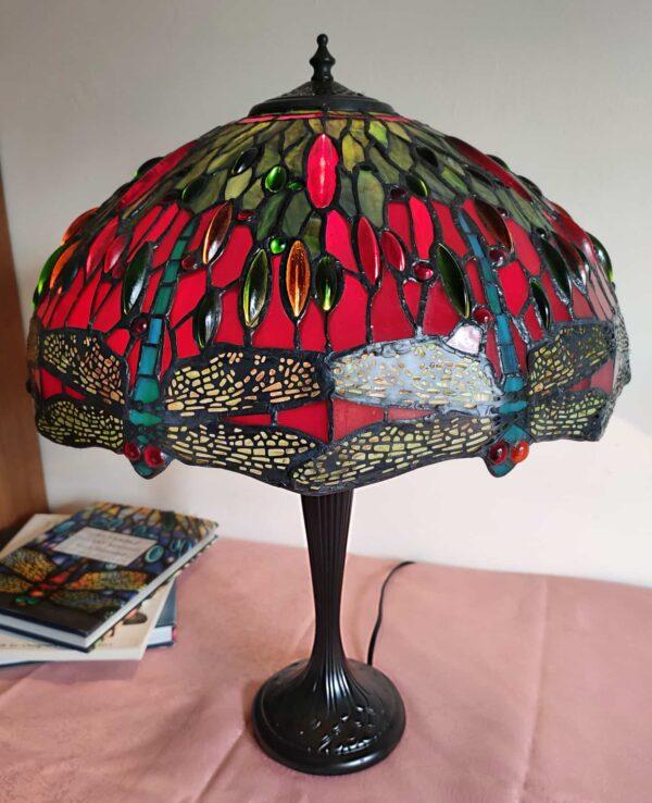 Lampada da Tavolo Tiffany con Lume a Libellule 1