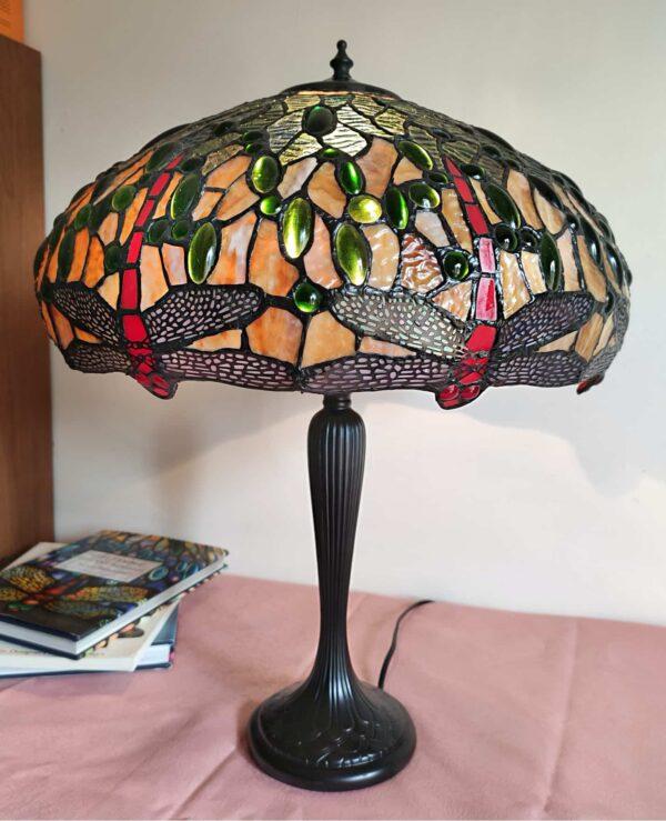 lampada da tavolo con libellule tiffany 3