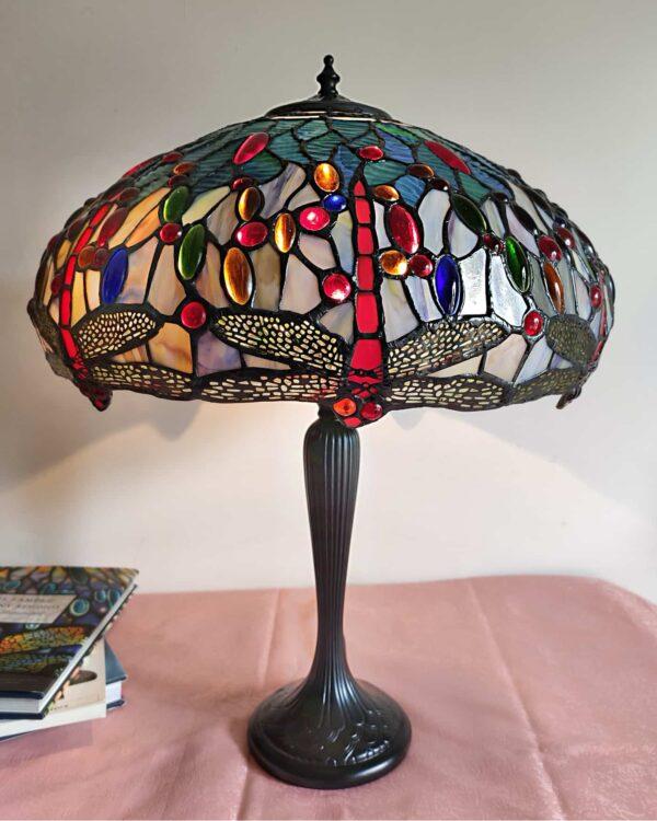 Lampada da Tavolo con Libellule Stile Tiffany 5