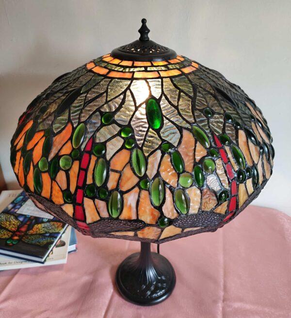lampada da tavolo con libellule tiffany 2