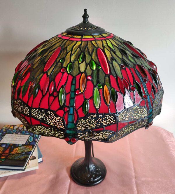 Lampada da Tavolo Tiffany con Lume a Libellule 3