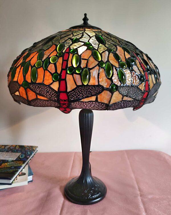 lampada da tavolo con libellule tiffany 5