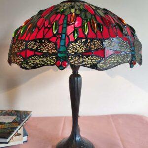 Lampada da Tavolo Tiffany con Lume a Libellule