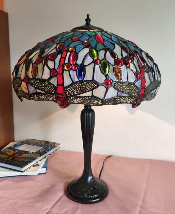 Lampada da Tavolo con Libellule Stile Tiffany 6
