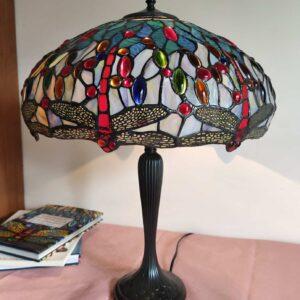Lampada da Tavolo con Libellule Stile Tiffany