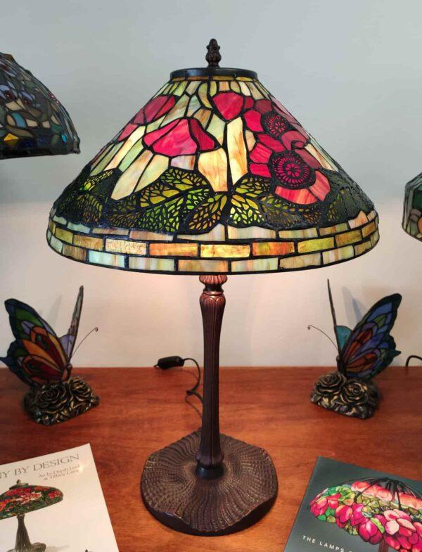 Lampada da Tavolo Tiffany con Papaveri