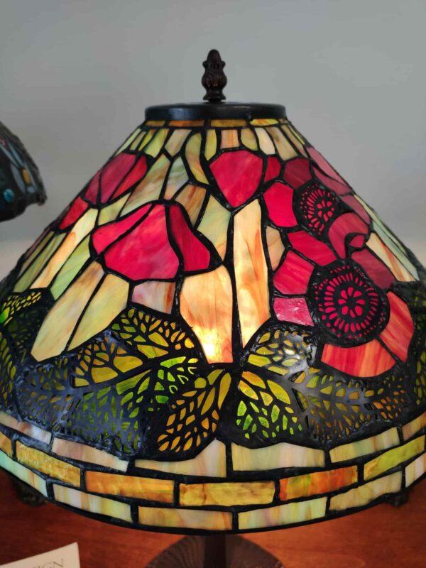 Lampada da Tavolo Tiffany con Papaveri 8