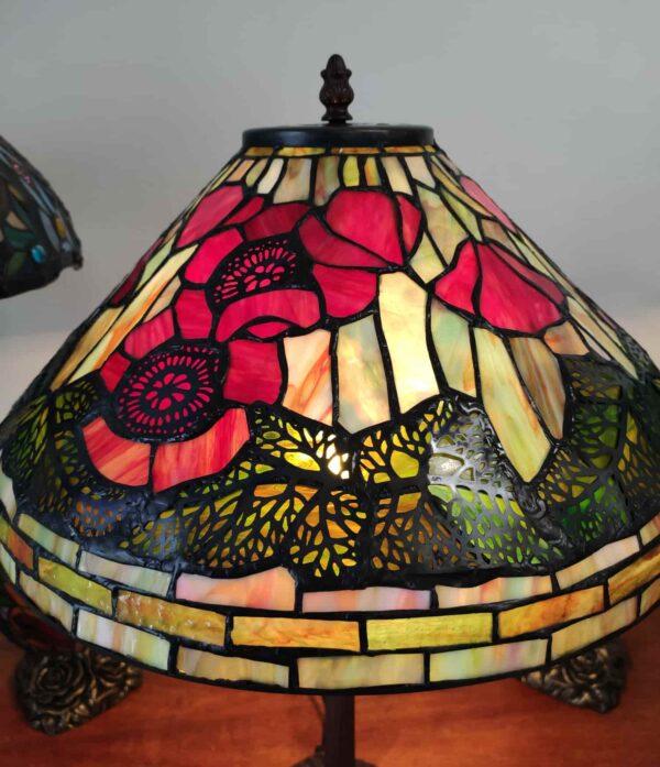 Lampada da Tavolo Tiffany con Papaveri 7