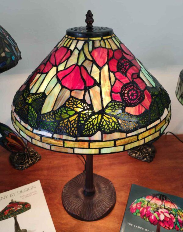 Lampada da Tavolo Tiffany con Papaveri 6