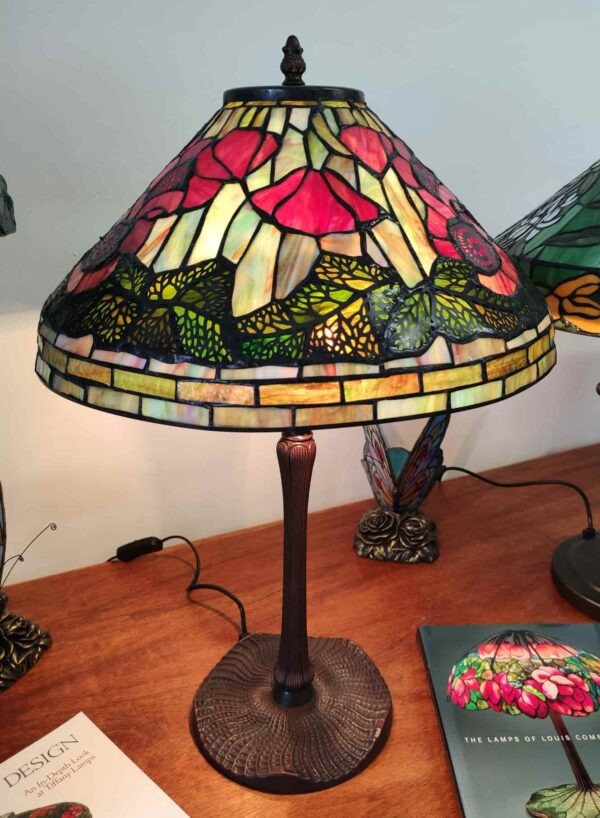 Lampada da Tavolo Tiffany con Papaveri 5