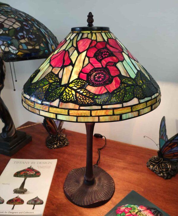 Lampada da Tavolo Tiffany con Papaveri 4