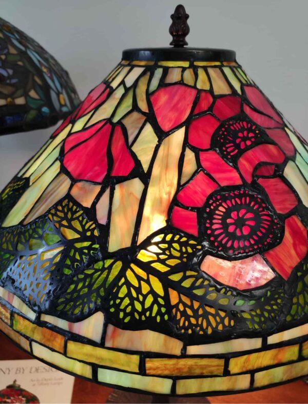 Lampada da Tavolo Tiffany con Papaveri 3