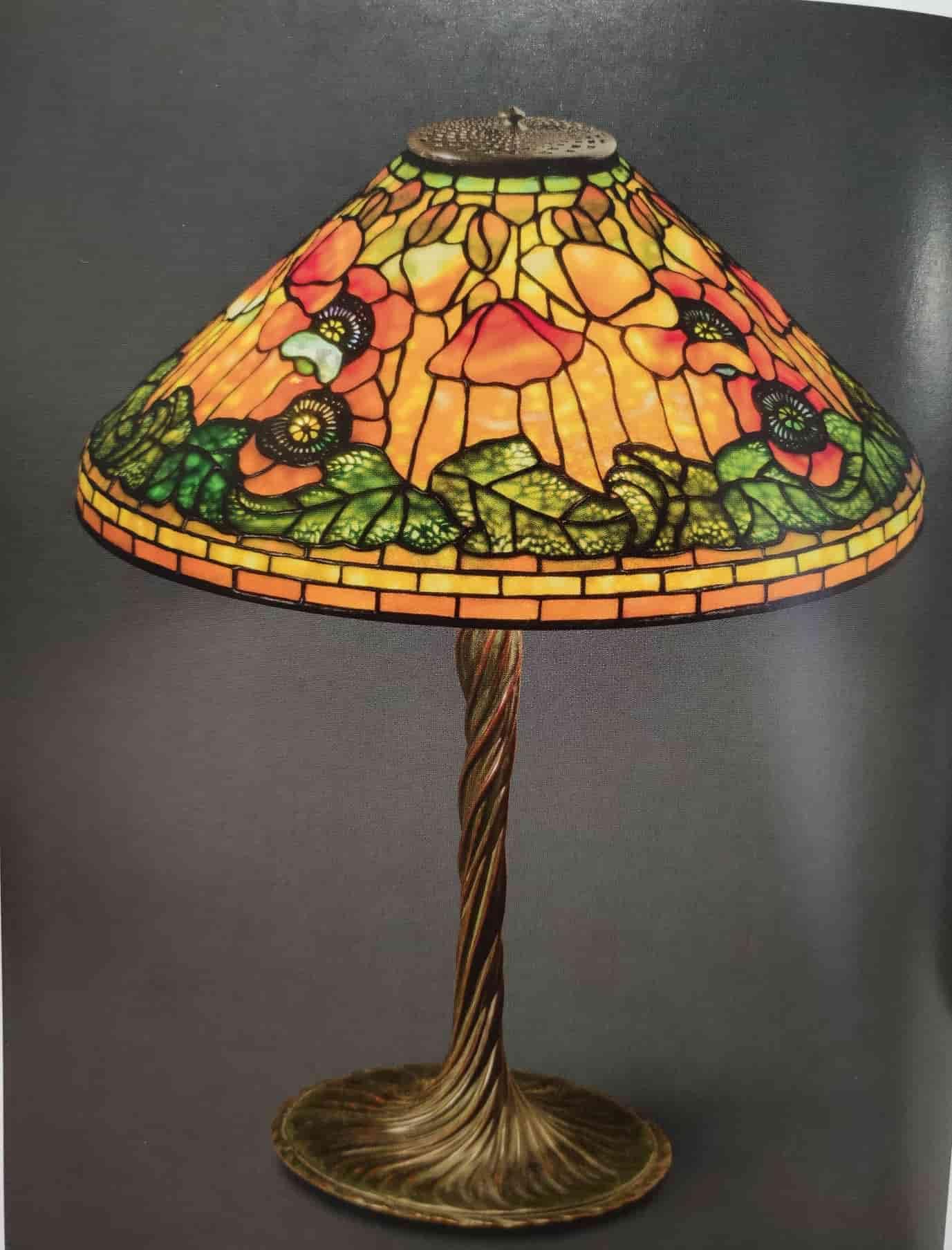lampada da tavolo tiffany con tulipani c