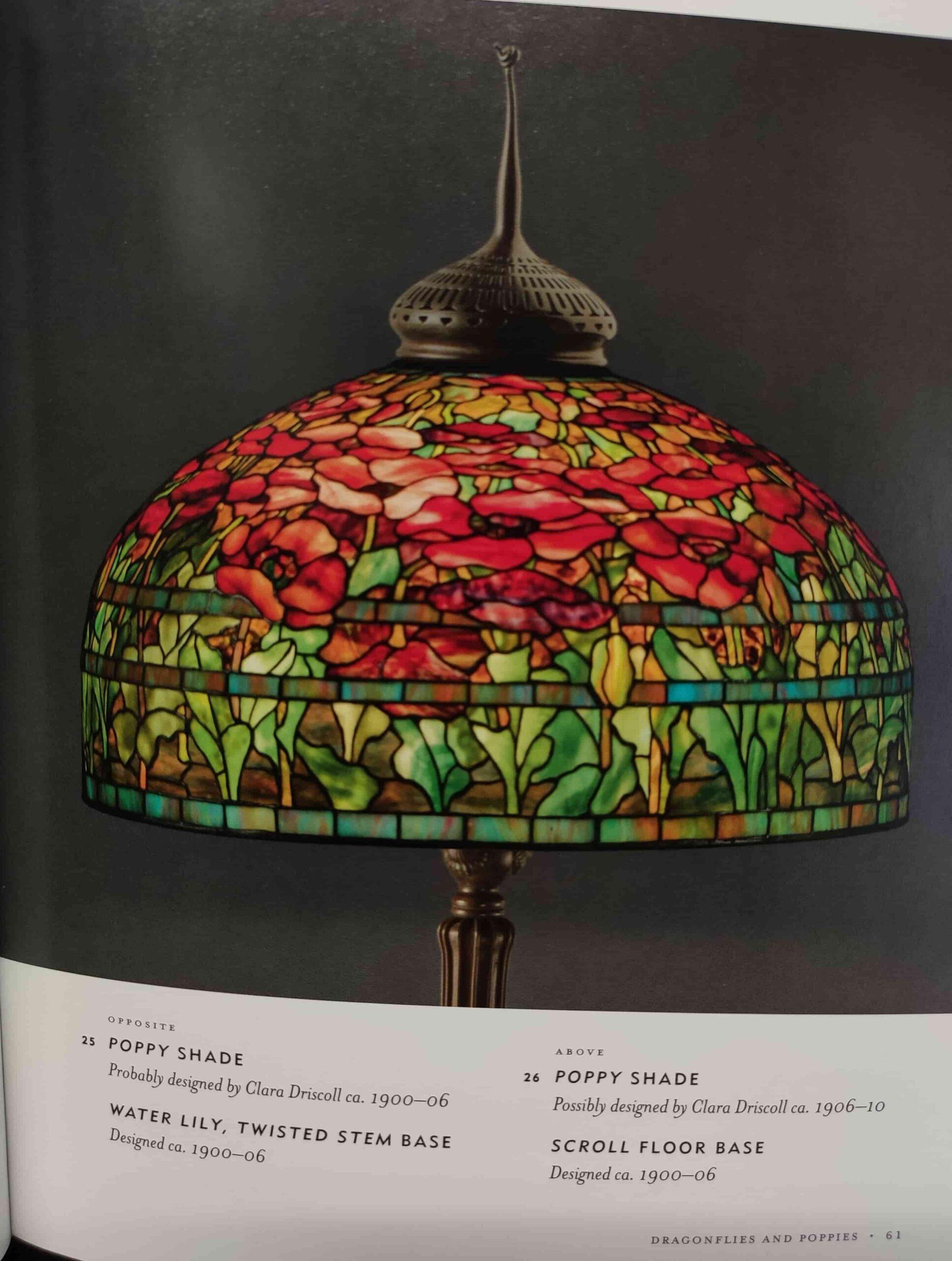 lampada da tavolo tiffany con tulipani d