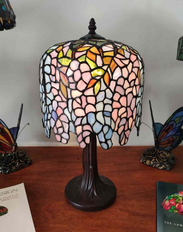 lampada da tavolo tiffany glicine 7