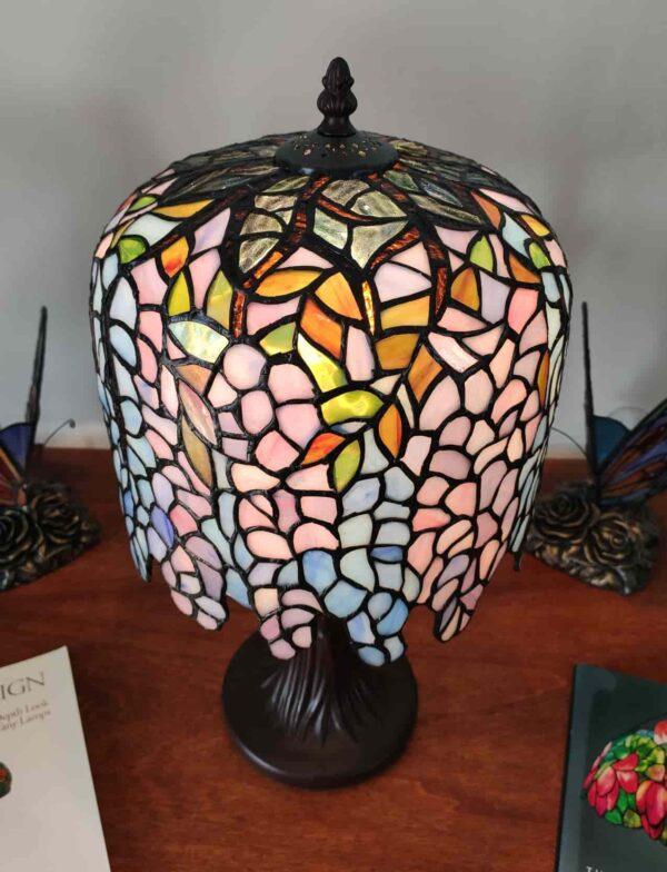 lampada da tavolo tiffany glicine 3