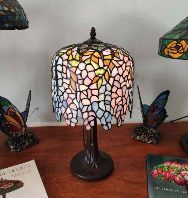 lampada da tavolo tiffany glicine 8