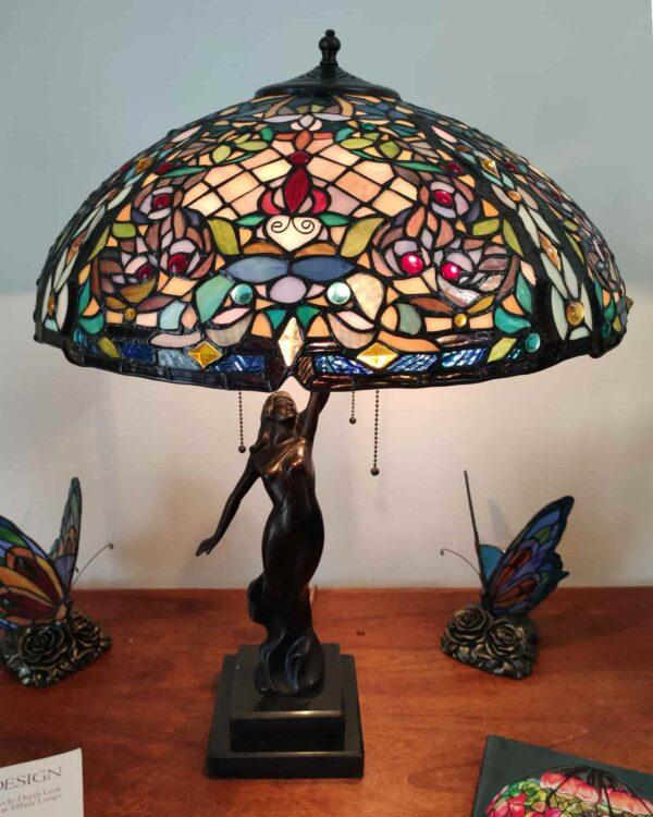 lampada da tavolo tiffany a mosaico 6