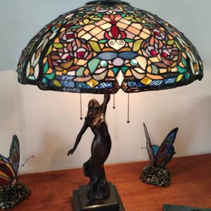 lampada da tavolo tiffany a mosaico