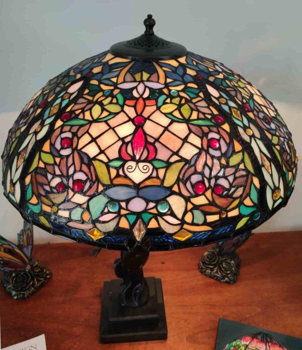 lampada da tavolo tiffany a mosaico 9