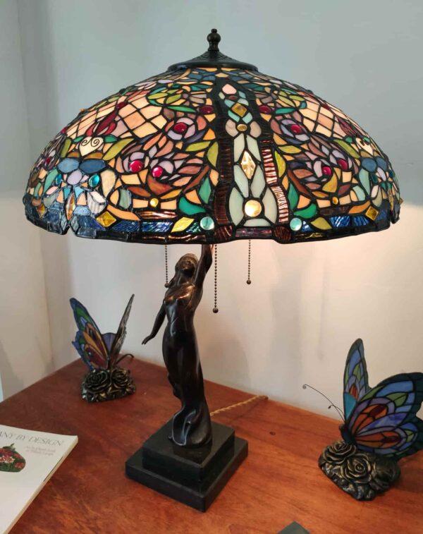 lampada da tavolo tiffany a mosaico 7