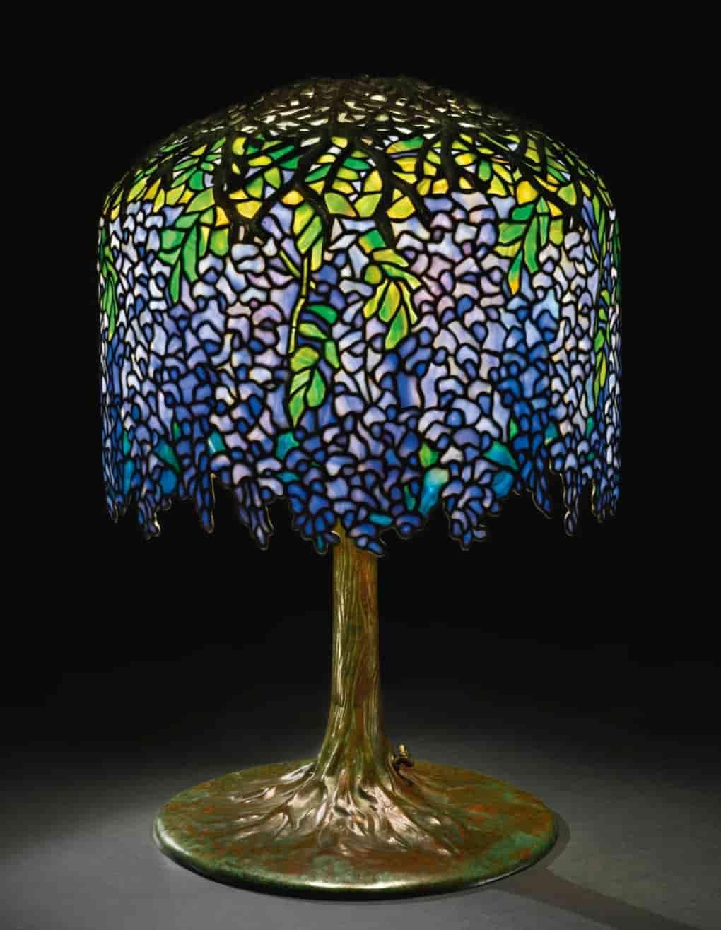 lampada da tavolo tiffany wisteria originale